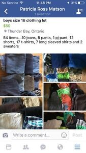 Size 16 boys clothing lot
