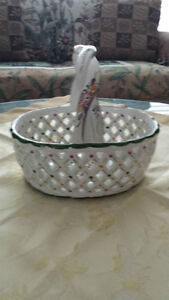 Lovely Hand Painted Basket
