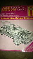 Chilton Hayne Ford Escort Lynx 1981 - 1990 Auto repair manual