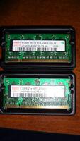 Laptop Memory Hynix 512 MB PC2-5300S Qty 2