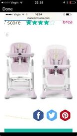 Silver cross pink high chair