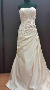 Designer Ruched Bodice Wedding Dress with Sweetheart Neckline Forestville Warringah Area Preview