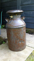 Old milk can rustic from days gone by