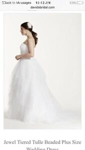 David's Bridal *Brand New* white wedding gown size 22 West Island Greater Montréal image 3