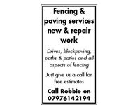 Paving and fencing services