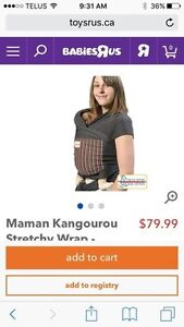 Maman Kangourou Stretchy Wrap - Grey & Nautical