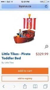 Pirate ship toddler bed with mattress  Kitchener / Waterloo Kitchener Area image 1