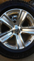 4 DODGE RAM RIMS WITH COOPER DISCOVERY H/T P275/60/20