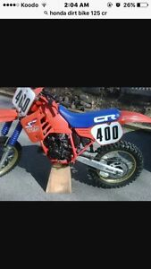 Looking for a Honda 125 cr dirtbike