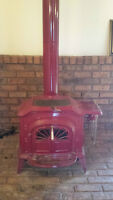 Vermont Castings Wood Stove (Red)
