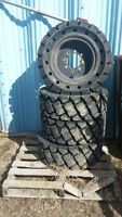 30 x 10-16 All Rubber Tires for CAT 226 Skid Steer