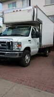 2012 Ford E-350 Cube with deck & ramp, single wheels !!!!!!