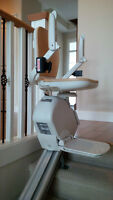 Acorn Slimline Stairlift Complete Mount on Left Side of Stairs