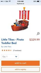 Like New Pirate/Ship toddler bed $250