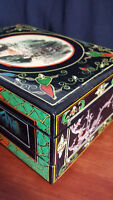 Old Hand Painted Antique Asian Jewelry Box