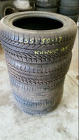 235 50 17 Michelin x 2 80% / Kumho x 2 100% tread