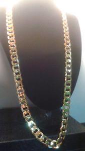 "27""12mm goldfilled curb chain"