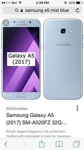 Samsung A5 factory sealed with case