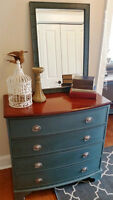Four drawer Bombay Dresser with Mirror- Beautiful!!