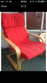 IKEA poang chair red