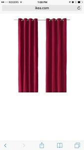 Dark pink curtains