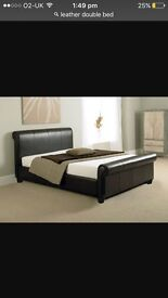 Leather double bed