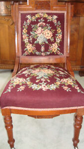 ANTIQUE NEEDLEPOINT PARLOUR CHAIRS Cornwall Ontario image 2