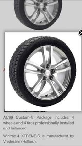 Winter package (tires on wheels) for 2016 Acura RDX.