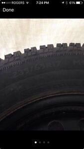 Like new winter tires and steel rims