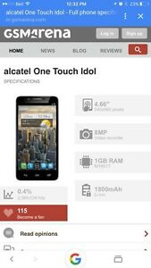Alcatel IDOL one touch cell phone  Kitchener / Waterloo Kitchener Area image 1