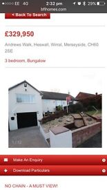 Heswall Detached 3 bedroom Rd bungalow