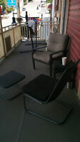 patio chairs,table and hammock stand