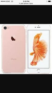 Month old unlocked rose gold iPhone 7plus 32gb  Peterborough Peterborough Area image 1