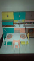 Reading Deluxe Dream Kitchen and other furniture for Barbie doll