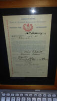 Antique 1899 Sons of Scotland Petition for Membership - 116yrs