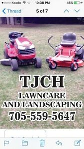 TJCH LAWNCARE AND LANDSCAPING IS RAKING LEAVES