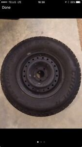 225 75 15 winter tires on rims - full set