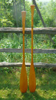 vinatge Chestnut Canoe Co paddles  fishing / camping  gear