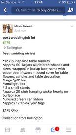 Post wedding job lot