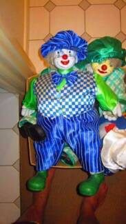 3 Vintage Porcelain Clowns in Excellent Condition $145 for the 3