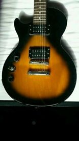 Left handed Epiphone electric guitar