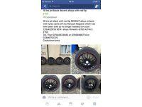 18 ins alloy black wheels