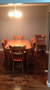 Dinning table and 8 chairs