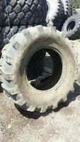 One Used 16.9-24 backhoe tire