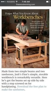 Woodworking Bench as Featured in Fine Woodworking Magazine