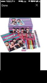 Union J xl gift tin - filled with an A4 journal and stationery