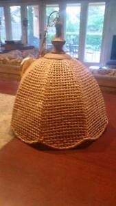 Fantastic large rattan cane style ceiling light Crafers Adelaide Hills Preview
