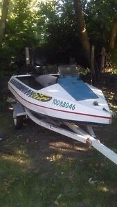 Home Made 9 1/2 foot boat with 50 HP Mercury