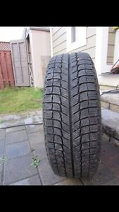 215/60/16 Michelin snow tires on steelies