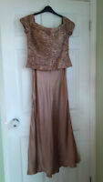 Ladies deep Sand evening gown- Size 12